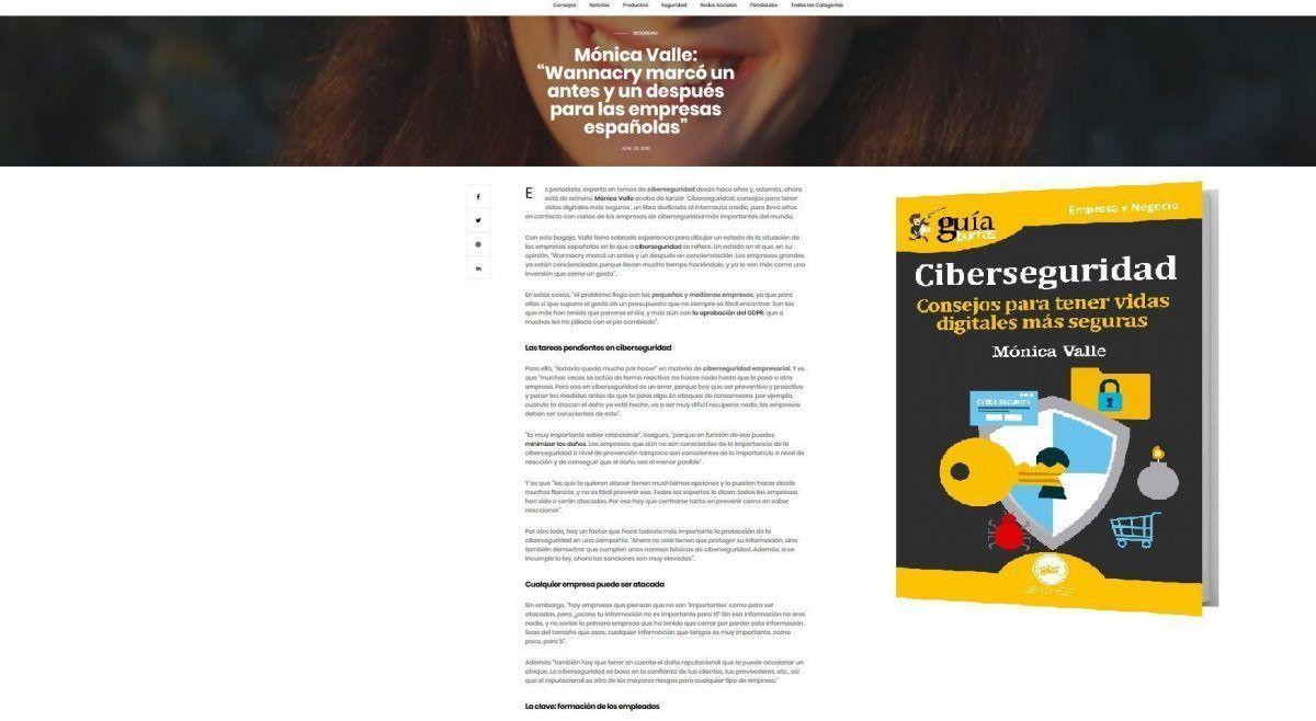 La autora del GuíaBurros: Ciberseguridad en Panda Security
