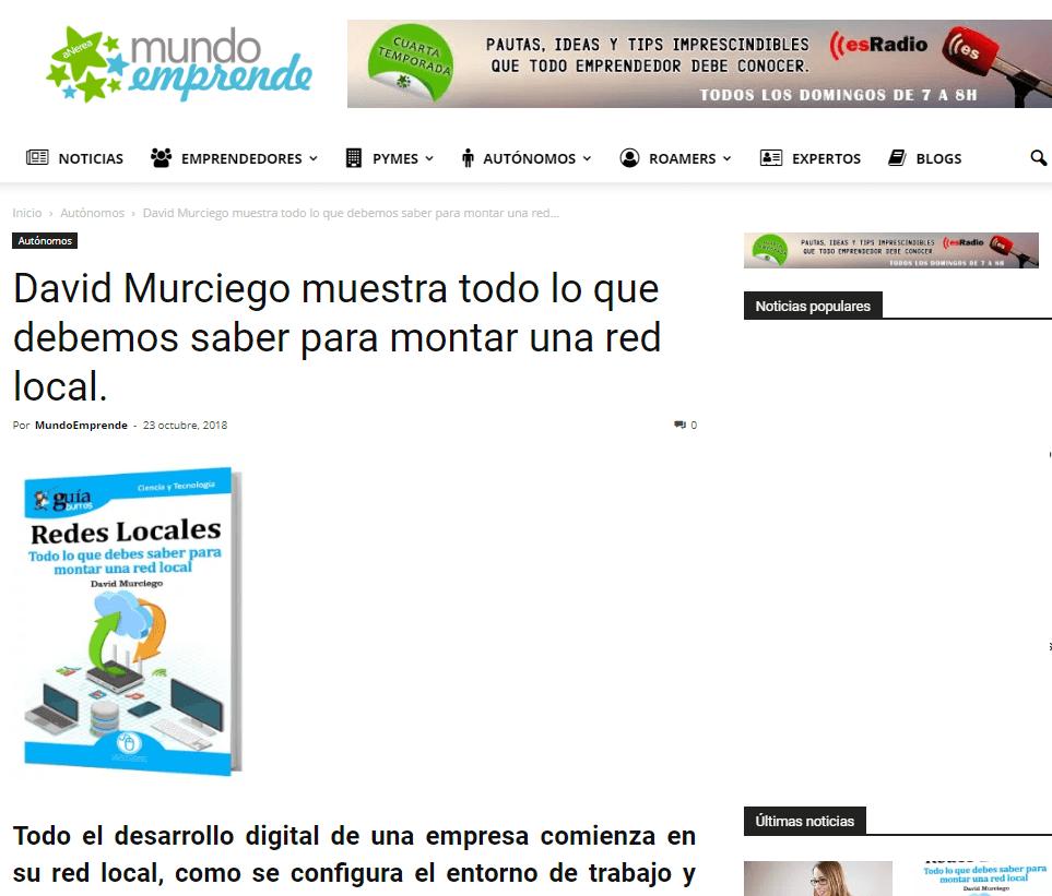 GuíaBurros: Redes Locales en Mundo Emprende, medio especializado en emprendedores, autónomos y  pymes.