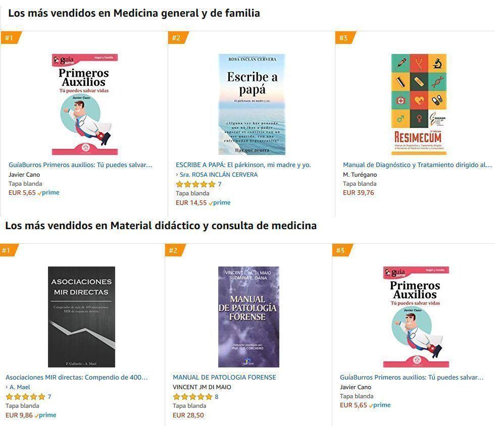 GuíaBurros: Primeros Auxilios entre los más vendidos de Amazon