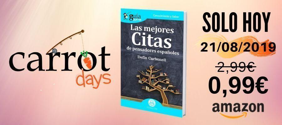 La versión digital del «GuíaBurros: Las mejores citas de pensadores españoles» a 0,99€ en Amazon