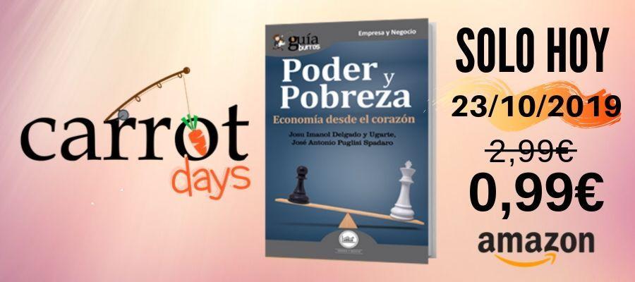 La versión digital del «GuíaBurros: Poder y pobreza» a 0,99€ en Amazon