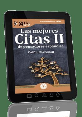 GuíaBurros Las mejores Citas IIde pensadores españoles.