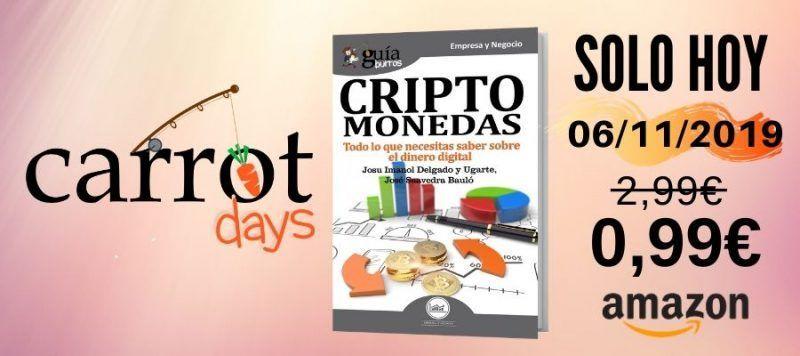 La versión digital del «GuíaBurros: Criptomonedas» a 0,99€ en Amazon