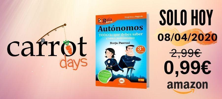 La versión digital del «GuíaBurros: Autónomos» a 0,99€ en Amazon