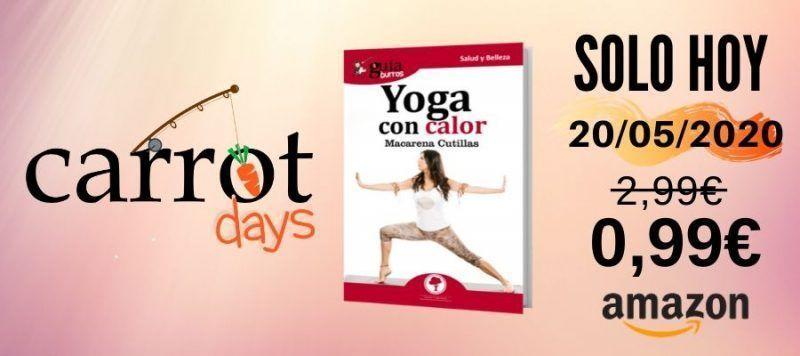 La versión digital del «GuíaBurros: Yoga con calor» a 0,99€ en Amazon