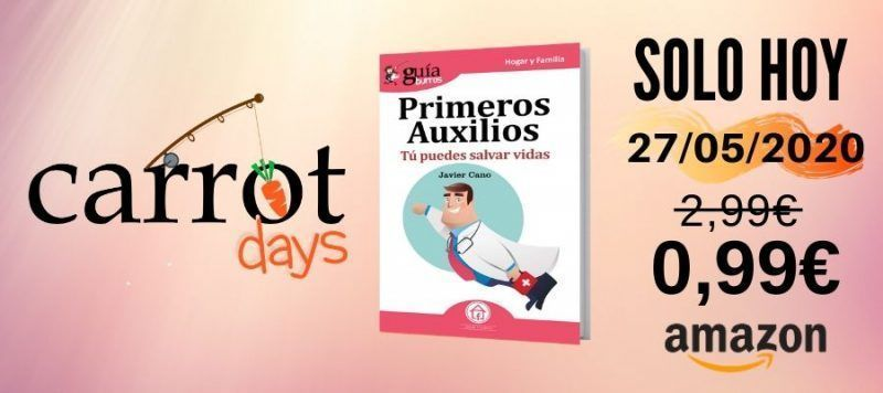 La versión digital del «GuíaBurros: Primeros Auxilios» a 0,99€ en Amazon
