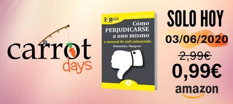 La versión digital del «GuíaBurros: Cómo perjudicarse a uno mismo» a 0,99€ en Amazon