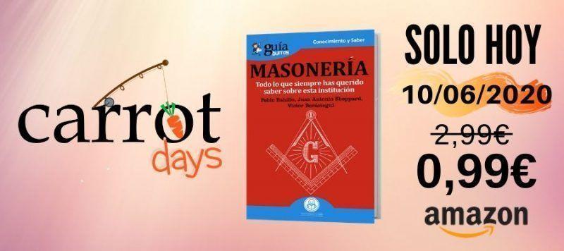 La versión digital del «GuíaBurros: Masonería» a 0,99€ en Amazon