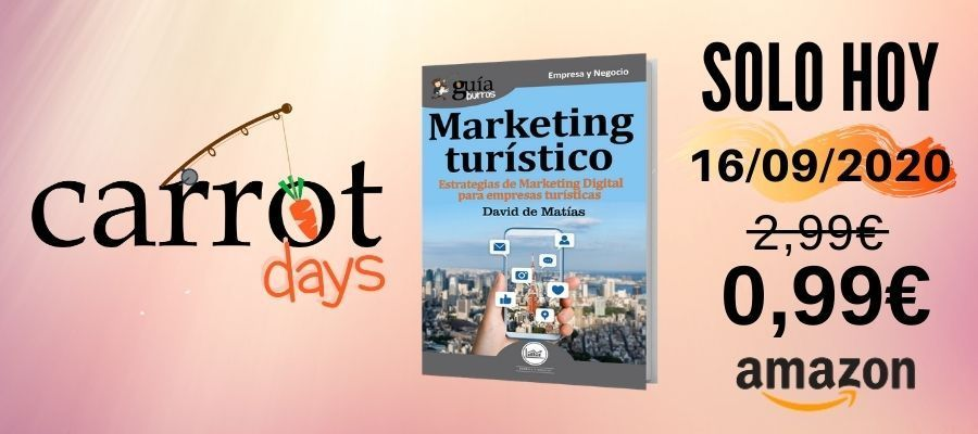 La versión digital del «GuíaBurros: Marketing turístico» a 0,99€ en Amazon