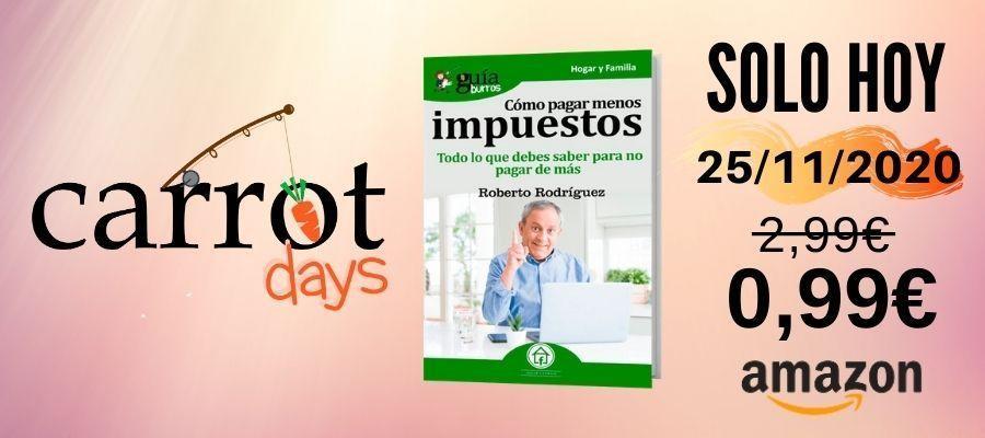 La versión digital del «GuíaBurros: Cómo pagar menos impuestos» a 0,99€ en Amazon