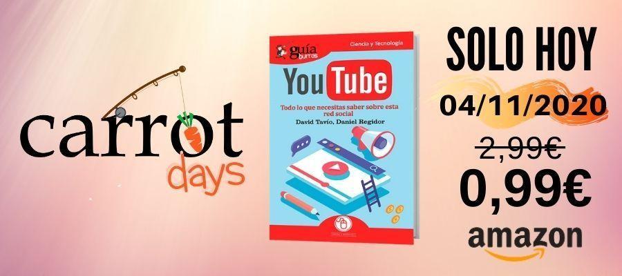 La versión digital del «GuíaBurros: YouTube» a 0,99€ en Amazon
