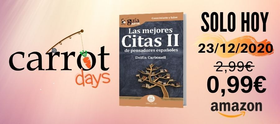 La versión digital del «GuíaBurros: Las mejores citas II» a 0,99€ en Amazon