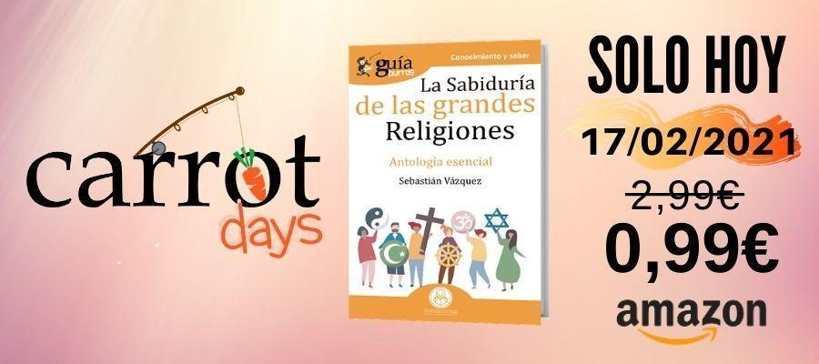 La versión digital del «GuíaBurros: La sabiduría de las grandes religiones» a 0,99€ en Amazon