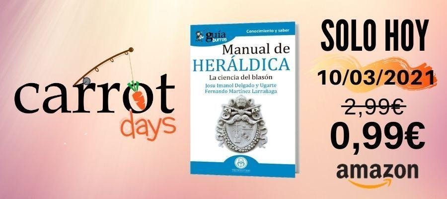 La versión digital del «GuíaBurros: Manual de heráldica» a 0,99€ en Amazon