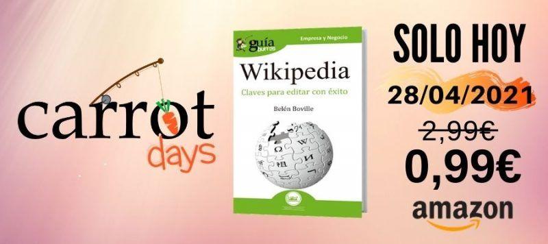 La versión digital del «GuíaBurros: Wikipedia» a 0,99€ en Amazon
