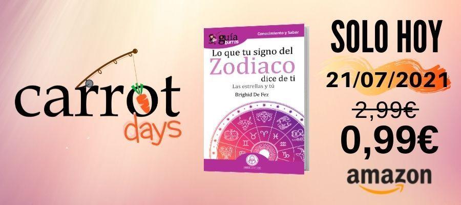 La versión digital del «GuíaBurros: Lo que tu signo del zodiaco revela de ti» a 0,99€ en Amazon